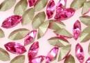 Swarovski navette, fancy chaton , rose, 4mm - x10