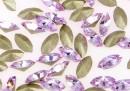Swarovski navette, fancy chaton , violet, 4mm - x10