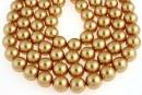 Swarovski pearls, bright gold, 14mm - x2