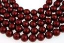 Swarovski pearls, bordeaux, 14mm - x2