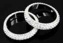 Swarovski, pave ring, crystal, 18.5mm - x1