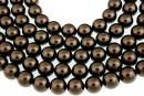 Swarovski pearls, brown, 14mm - x2