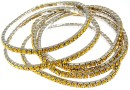 1088 Swarovski sunflower bracelet, rhodium plated, 18cm - x1