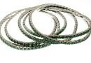 Bratara Swarovski 1088 palace green opal, placata cu rodiu, 18cm - x1