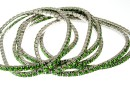 Bratara Swarovski 1088 fern green, placata cu rodiu, 18cm - x1