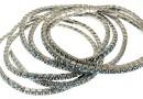 Bratara Swarovski 1088 indian sapphire, placata cu rodiu, 18cm - x1