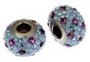 Swarovski, becharmed pave, aquamarine - x1