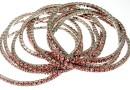 1088 Swarovski peach rose bracelet, rhodium plated, 18cm - x1