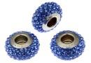 Swarovski, becharmed pave sapphire dark blue, 13.5mm - x1