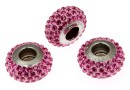 Swarovski, becharmed pave rose rose, 13.5mm - x1