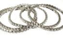 1088 Swarovski 4mm crystal bracelet, rhodium plated, 18cm - x1