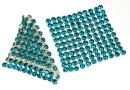 Swarovski, crystal mesh, blue zircon, 3.2x3.2cm - x1