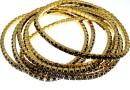 1088 Swarovski jet bracelet, gold plated, 18cm - x1