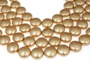 Perle Swarovski disc, vintage gold, 16mm - x2