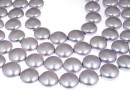 Swarovski disk pearls, lavander, 12mm - x4