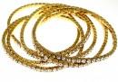 Bratara Swarovski 1088 aurore boreale, placata cu aur, 18cm - x1