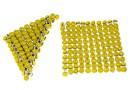 Swarovski Crystal mesh, yellow opal, 3.2x3.2cm - x1