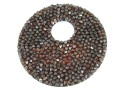 Swarovski, pand. fine rocks, black red magma, 40mm - x1