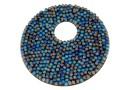 Swarovski, pand. fine rocks, bermuda blue matt, 40mm - x1