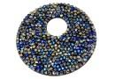 Swarovski, pand. fine rocks, berm. blue mettalic gold, 40mm - x1
