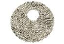 Swarovski, pand. fine rocks, mettalic silver, 40mm - x1