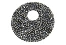 Swarovski, pand. fine rocks, black mettalic silver, 40mm - x1