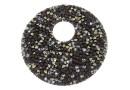 Swarovski, pand. fine rocks, black peach gold, 40mm - x1