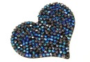 Swarovski, pand. rocks, black bermuda blue, 50mm - x1