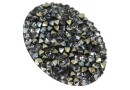 Swarovski, pand. rocks, black jet chrome, 36.5mm - x1
