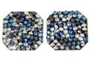Swarovski, fine rocks pendant, black jet bermuda blue CAL, 22mm - x1