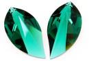 Swarovski, pandantiv frunza, emerald, 28mm - x1