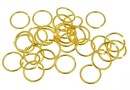 Jump rings, open, gold-plated 925 silver, 6x0.5mm - x10