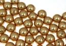 Perle Swarovski cu un orificiu, bright gold, 6mm - x4