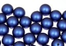 Perle Swarovski cu un orificiu, iridescent dark blue, 10mm - x2