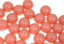 Perle Swarovski cu un orificiu, pink coral pearl, 8mm - x2