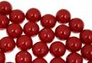 Perle Swarovski cu un orificiu, red coral pearl, 10mm - x2
