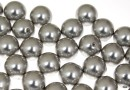 Perle Swarovski cu un orificiu, light grey, 12mm - x2
