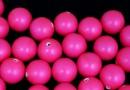 Perle Swarovski cu un orificiu, neon pink, 10mm - x2