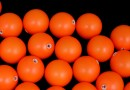 Perle Swarovski cu un orificiu, neon orange, 8mm - x2