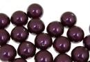 Perle Swarovski cu un orificiu, blackberry, 12mm - x2