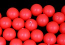 Perle Swarovski cu un orificiu, neon red, 6mm - x4