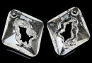 Swarovski, pand.growing rhombus, crystal, 36mm - x1