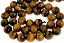 Tiger eye, faceted round, 8.5mm