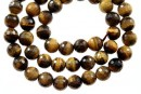 Brown tiger eye, faceted round, 4.5mm