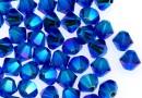 Swarovski, margele bicone, capri blue AB2x, 4mm - x20