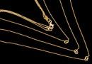 Lant triplu pentru linkuri argint 925 placat cu aur, 35+42+45cm - x1