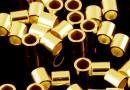 Crimp tubular, argint 925placat cu aur, 2mm - x1gram