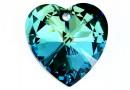 Swarovski, pandantiv inima, bermuda blue, 40mm - x1