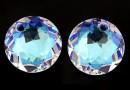 Swarovski, pandantiv chaton, blue aurore boreale, 14mm - x1