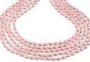 Swarovski pearl, rosaline, 4x3mm - x100